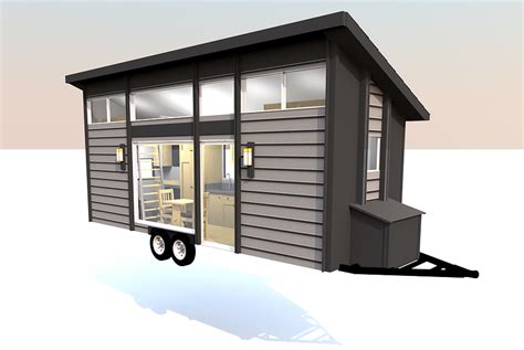 this tiny home on a trailer is styled after