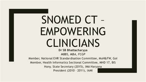 Mbbs Mba Scope by Snomed Ct Empowering Clinicians