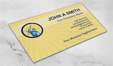 card templates electrician 25 construction business card templates free premium