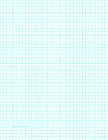 Printable graph paper with four lines per inch on letter sized paper