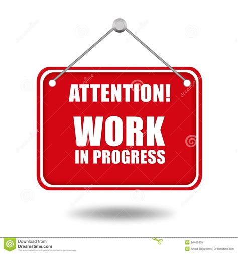 work in progress sign royalty free stock photo image 24407405