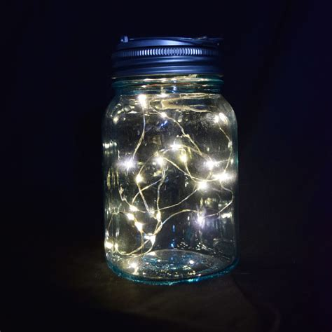 Fantado Mouth Water Blue Mason Jar Lights Warm White Fairy Jar Lights