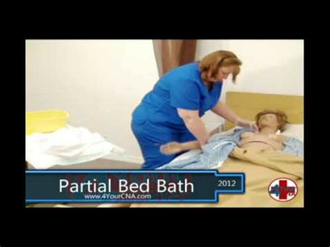 bed bath com partial bed bath cna skills youtube