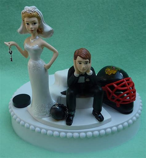 wedding cakes chaign il wedding cake topper chicago blackhawks hockey themed and