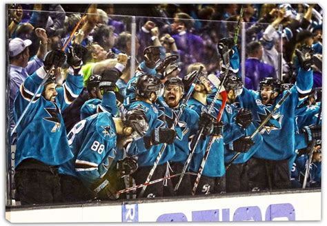 bench celebration san jose sharks 20x29 conference chions bench