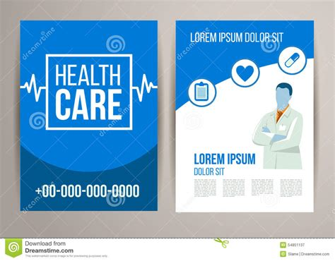 healthcare brochure healthcare brochure stock vector image of cover icon