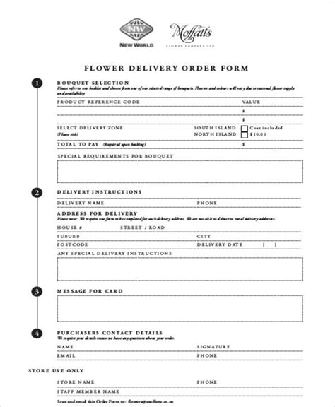 floral order form template flower order form pictures to pin on pinsdaddy