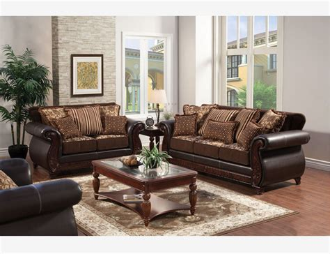 Traditional Brown Leather Sofa Traditional Brown Fabric Leather Sofa Loveseat Pillow Living Set Contemporary Sofas