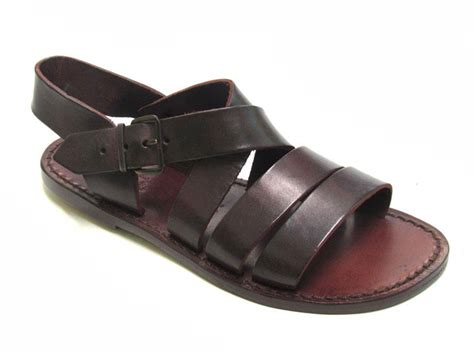Italian Handmade Flats - brown leather s flats jesus sandals handmade in