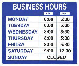 Pics photos business hours sign template this is your index html
