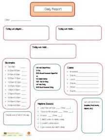 Toddler daily report template success