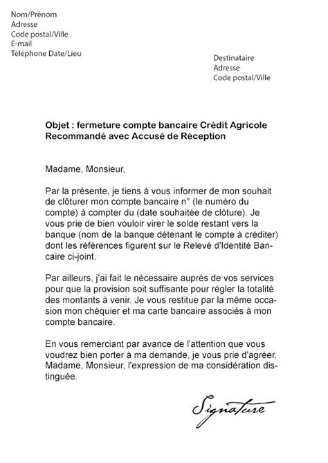 Lettre De Motivation Concours Banque Lettre De R 233 Siliation Cr 233 Dit Agricole Mod 232 Le De Lettre