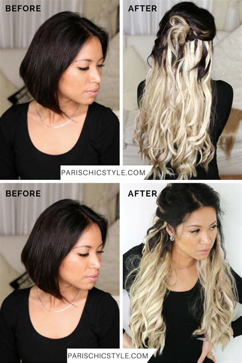 how do you do paris berlcs hairstyle on mighty med clip on hair extensions before and after remy indian hair