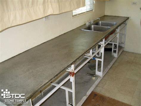 Building A Concrete Countertop by Cast In Place Concrete Countertops Stdc