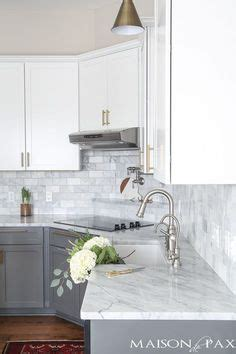 modern jane two tone cabinets reveal gray and white and marble kitchen reveal classic