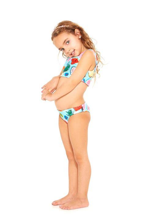 fruits little girl swimsuit kids tropical fruit sports bra bikini terez