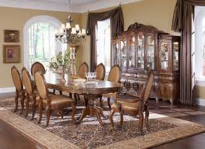 Michael Amini Dining Room Set by Michael Amini Lavelle Melange Finish Dining Room Set By Aico