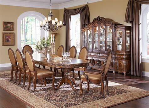 michael amini dining room set michael amini lavelle melange finish dining room set by aico