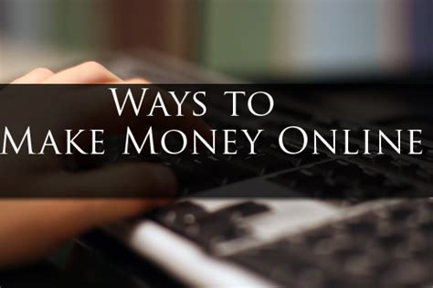 Work Online Make Money - how to make money online by doing real work