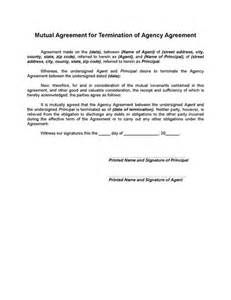 mutual termination of agency agreement legal forms and