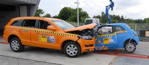 fiat 500 crash test results audi q7 versus fiat 500 crash test