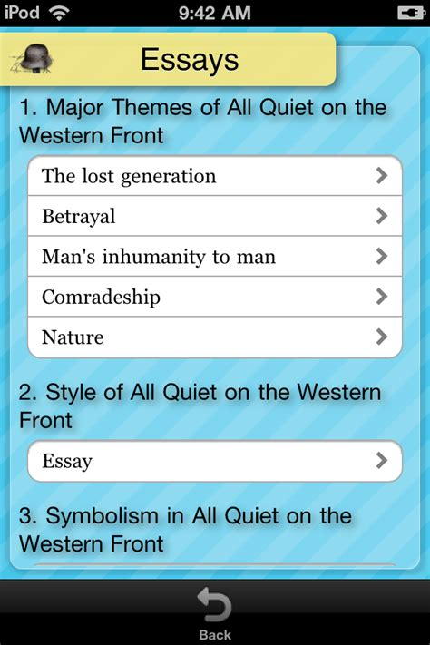 All On The Western Front Essay Topics by Comradeship In All On The Western Front Essay Contest Study Essey For Students