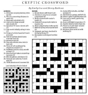 musical theme crossword clue national post cryptic crossword forum saturday july 24