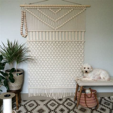 Large Macrame Wall Hanging - macrame wall hanging large forest