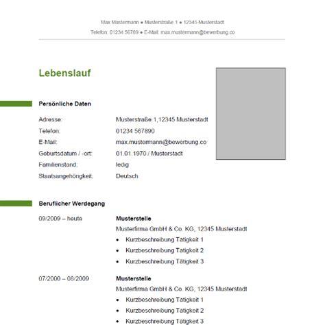 Bewerbung Tabellarischer Lebenslauf Muster Tabellarischer Lebenslauf Bewerbung Co