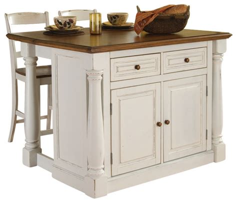 kitchen island with stool monarch antiqued white kitchen island and 2 stools