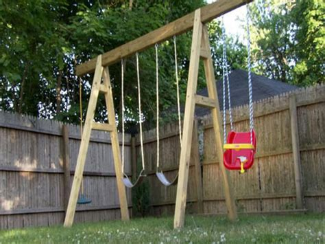 how to make a backyard swing wood idea diy wooden swing set plans free pdf plans