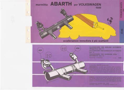 volkswagen abarth exhausts
