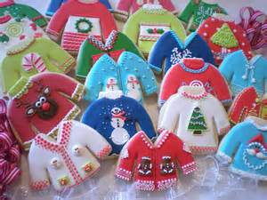 ugly christmas sweater cookies 12 days of christmas pinterest