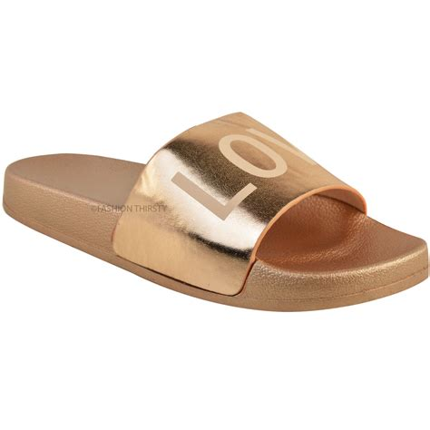 flat slippers for womens womens flat sliders slippers slip on mules