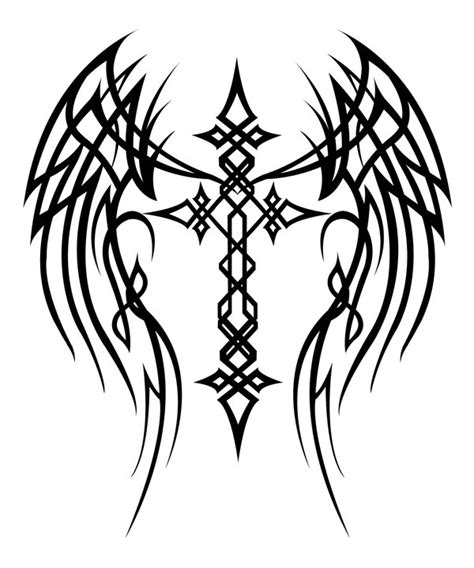 cross and wing tattoos cross with wings by mercedesjk on deviantart