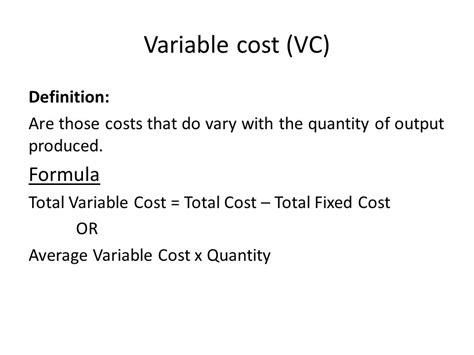 Of Mba Total Cost by Variable Costs Definition Meaning Exle Autos Post