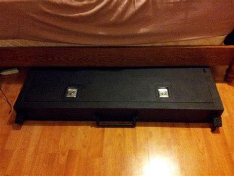 bed gun safe under bed gun safe fingerprint home design ideas