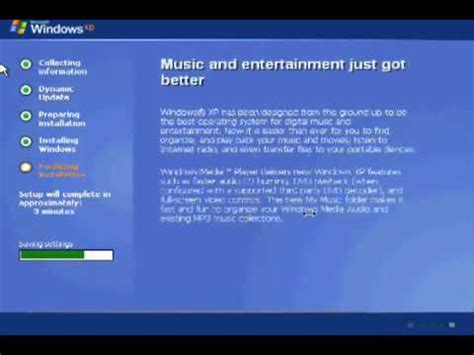 cd format for windows xp how to format a computer using a windows xp cd part 2