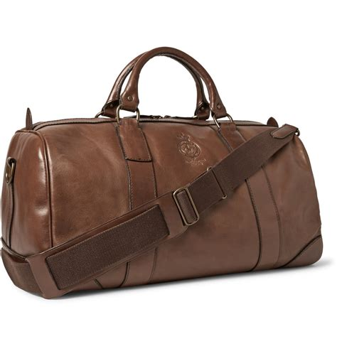 Polo Ralph Holdall polo ralph leather holdall bag in brown for lyst