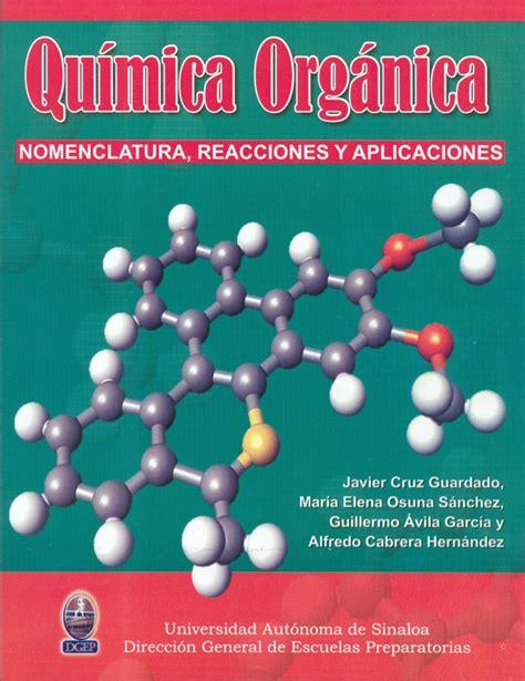 libros de quimica organica experimental para descargar libro de quimica organica