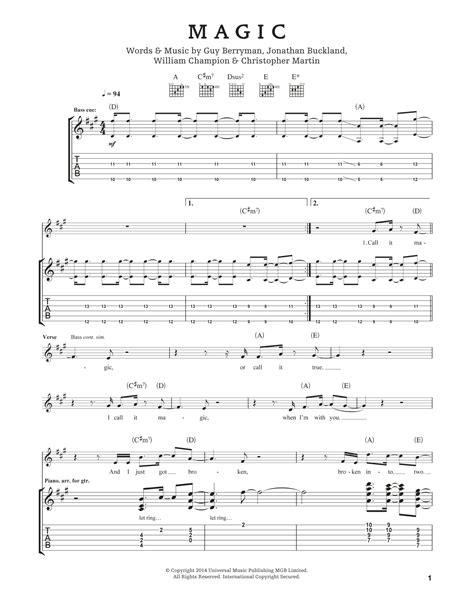 coldplay magic chords magic by coldplay guitar tab guitar instructor