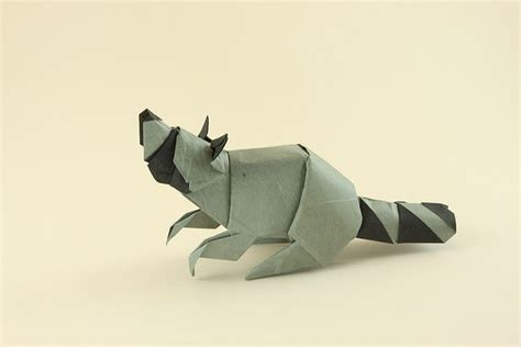 Origami Raccoon - origami raccoon animals to