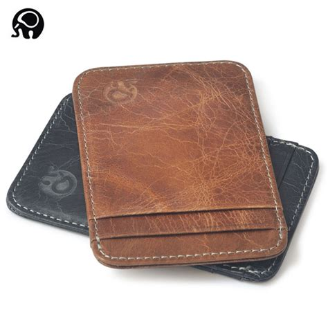 minimalist advanced genuine leather wallet 3 card slots