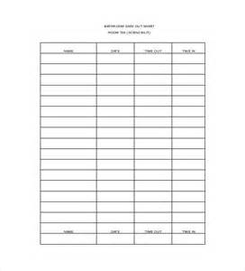 sign out sheet template 12 free word pdf documents