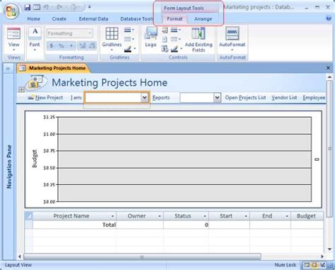 open form in layout view access layout view in microsoft access 2007 and 2010