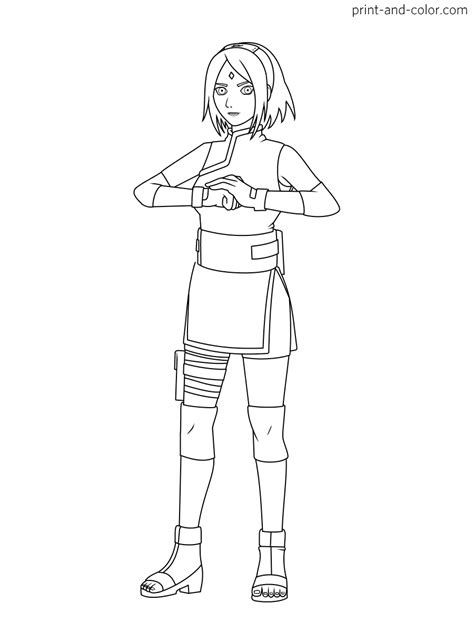 Naruto coloring pages | Print and Color.com