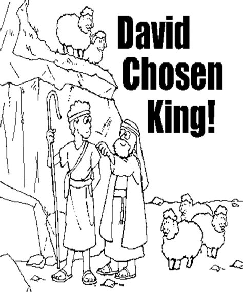 coloring page david becomes king free the king david coloring pages