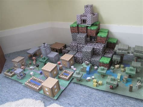 Minecraft Papercraft World - pics for gt minecraft papercraft mini world
