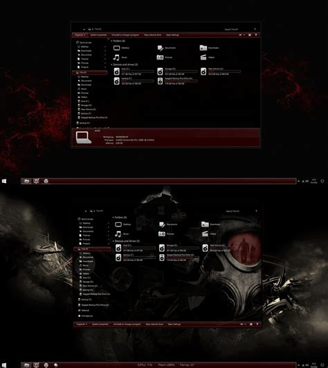 uxstyle themes for windows 10 the red theme for windows 10 anniversary update by