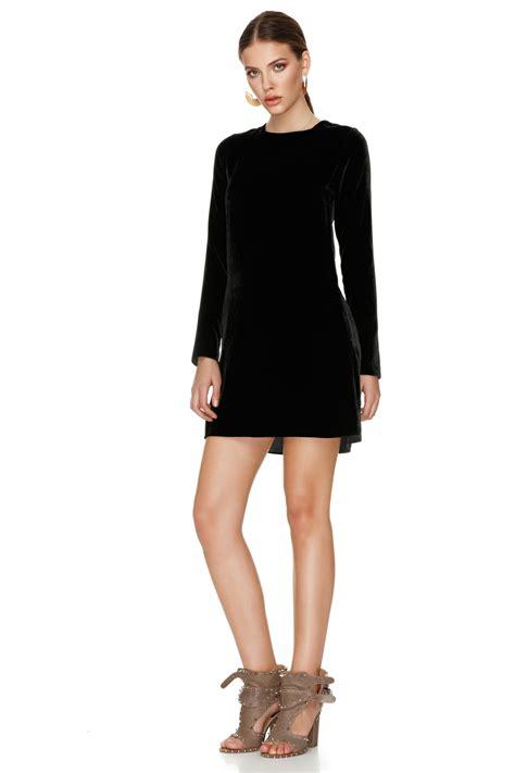 black velvet mini dress pnk casual